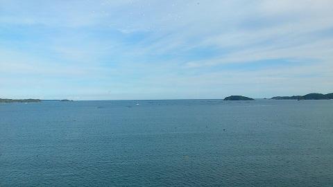 南三陸の海。