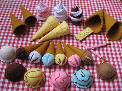 チョキチクフェルトアイスクリームセット
