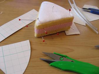 型紙作りケーキ2