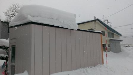 車庫の屋根の