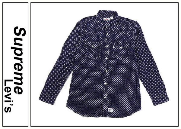 Supremeシュプリーム×Levi'sリーバイス 12AW ウエスタンドットシャツ Lightweight Western Shirt