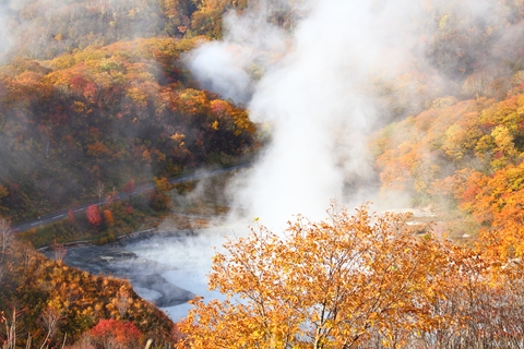 2012.10,30登別温泉の紅葉002