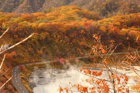 2012.10,30登別温泉の紅葉006