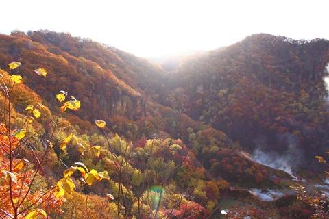 2012.10,30登別温泉の紅葉031