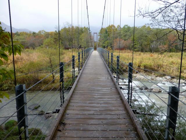 白馬グリーンパーク外の吊橋3