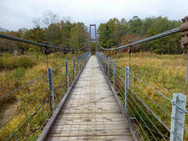 白馬グリーンパーク外の吊橋4