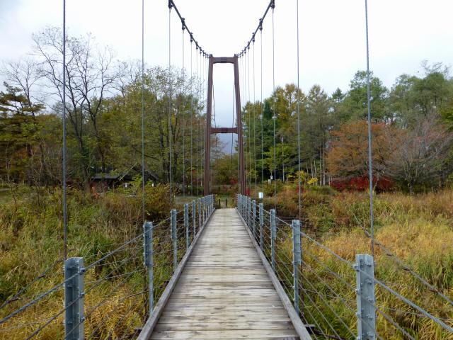 白馬グリーンパーク外の吊橋5