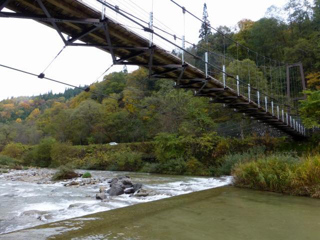 白馬グリーンパーク外の吊橋7