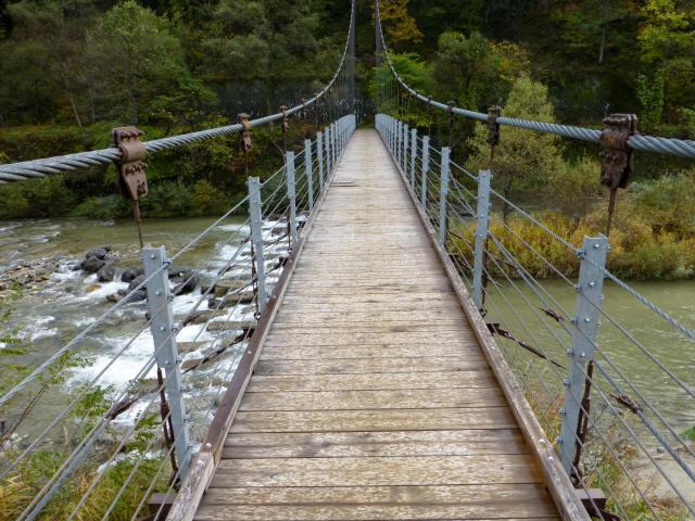 白馬グリーンパーク外の吊橋8