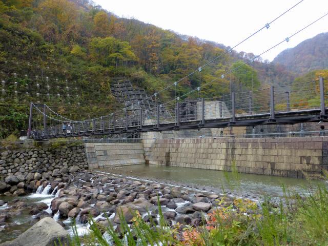 関川1号堰堤の吊橋7