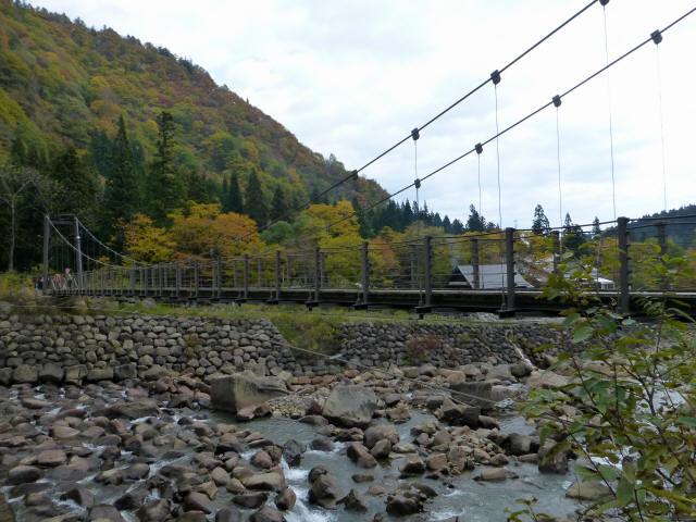 関川1号堰堤の吊橋5