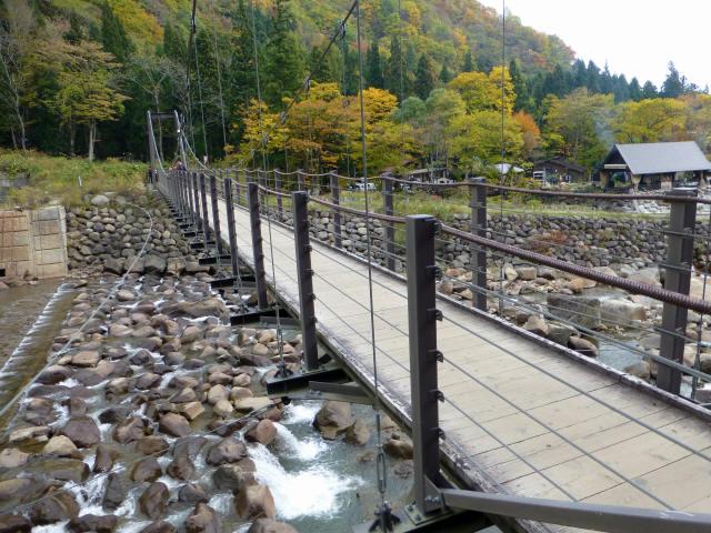 関川1号堰堤の吊橋3