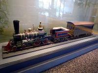 ペリー献上の蒸気機関車模型の模型