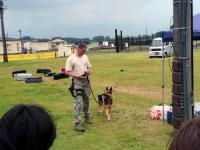 軍用犬のデモンストレーション