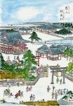 江戸名所図会の「霞山稲荷神社」