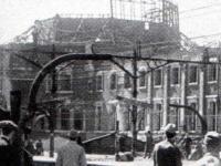 戦災時の架線柱