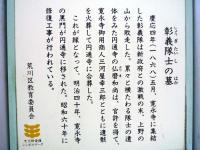 『彰義隊士の墓』
