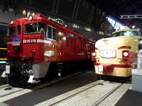 左:「ED75形式電気機関車 車号ED75 775」 右:「クハ481形式電車 車号クハ481-26」