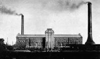 当時の発電所の全景