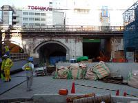 再開発中の万世橋跡