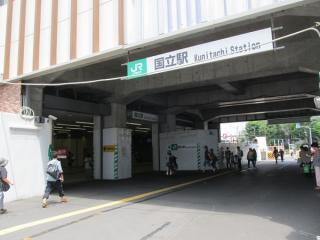 駅舎外を通る通路は7月13日を以って閉鎖された