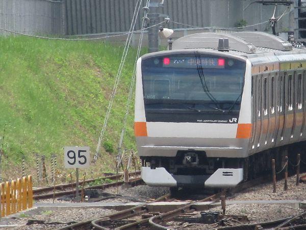 国分寺駅東京方に出現した「制限速度95」の標識