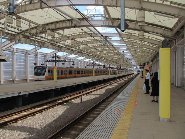東小金井駅のホーム