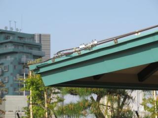 高い構造物には避雷導線