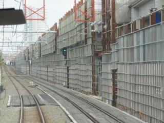 大泉学園→石神井公園の前面展望。下り線の高架橋建設が進む。
