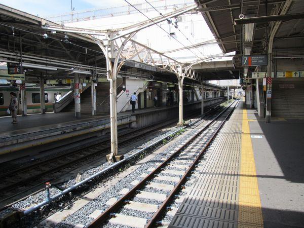 TC型省力化軌道に改修された上野駅7番線