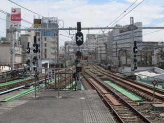 上野駅6~9番線東京方に新設された出発信号機。