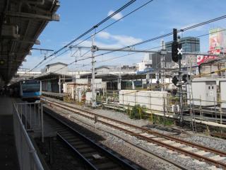 上野駅5番線東京方に新設された第4場内信号機。