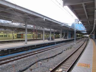 9・10番線の横浜寄りも整備がおおむね完了した。