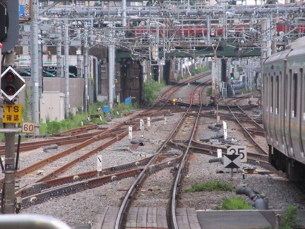 八ツ山橋付近にある横須賀線・東海道線の連絡線は変化なし