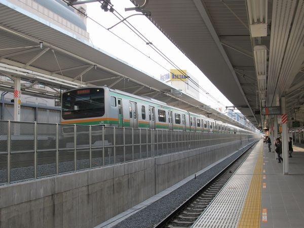 宇都宮・高崎線3・4番線ホームから湘南新宿ライン5・6番線ホームを見る。