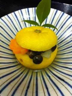 タラと冬野菜の柚子釜蒸し
