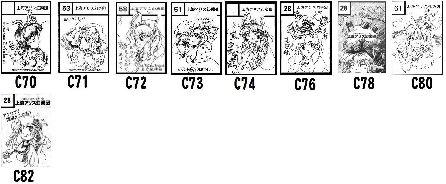 東方C70~C82サークルカット