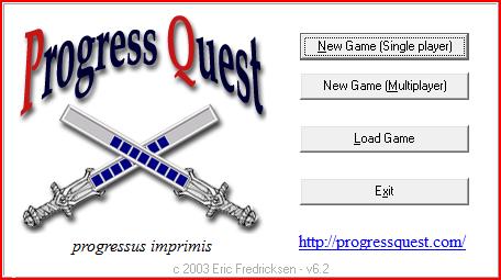 ProgressQuest開始画面