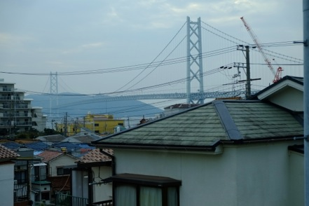 山陽電車から明石海峡大橋