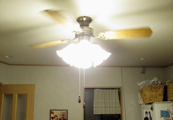 LED電球に替えたところ(明るくなった)