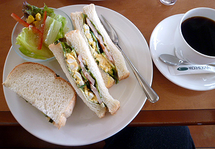 珈琲館・サンドイッチ