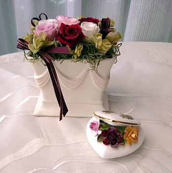 陶製花&プリザ