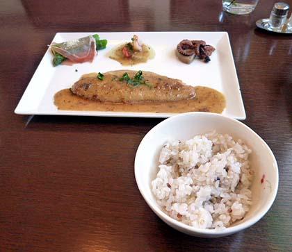 白身魚のグリル・お味噌ソ-ス