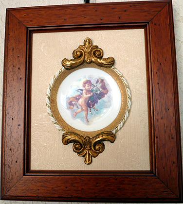 天使額絵皿 A-1