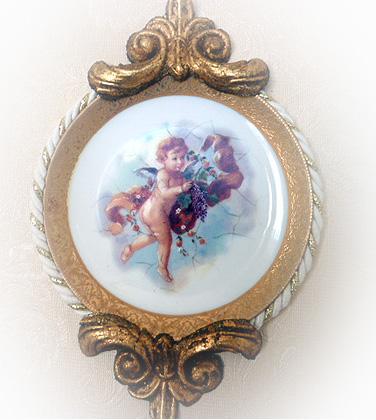 天使額絵皿 A-2