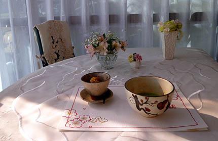 抹茶(和光)&栗かの子