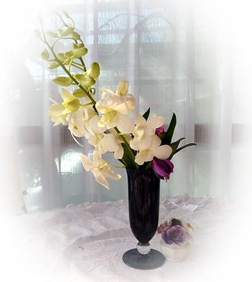 テ-ブルのお花