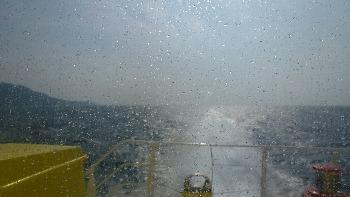 神津島が遠くなる