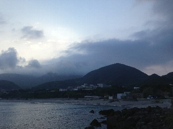 明け方の前浜海岸