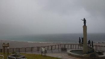 激しく雨です